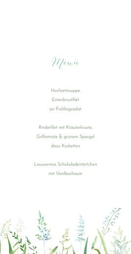 Menükarte Sommerwiese klappkarte grün - Seite 3