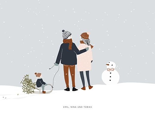 Poster klein Winter family (1 kind) 1 - Seite 1