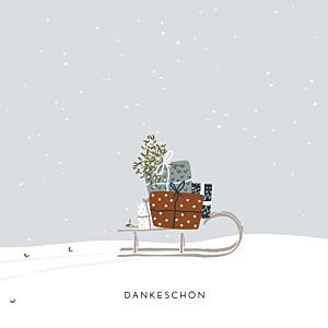 Mini dankeskarten winter family 1