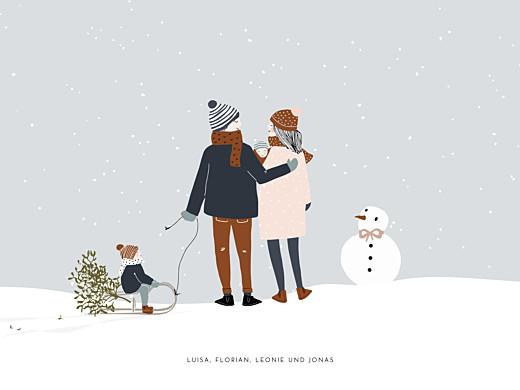 Poster klein Winter family 2 kinder baby 1 - Seite 1