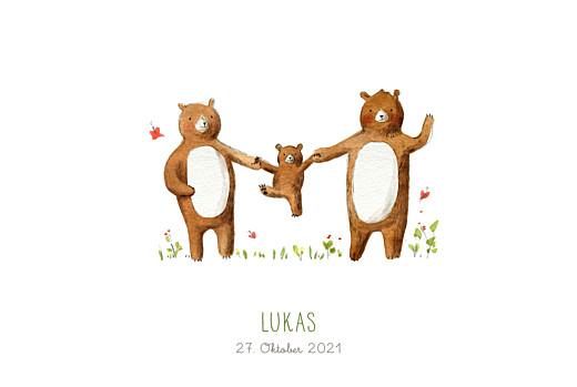Geburtskarten 3 bären weiß