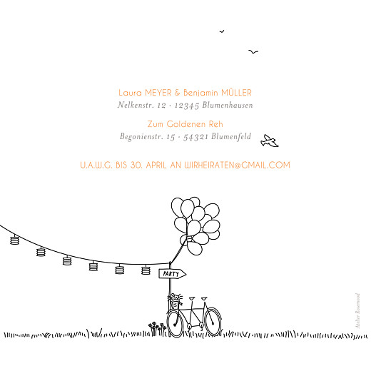 Hochzeitseinladungen Feldhochzeit paar weiss - Seite 4