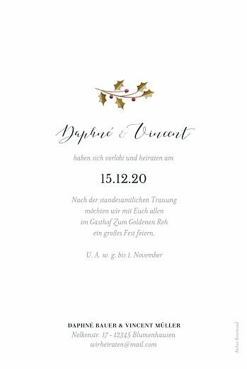 Hochzeitseinladungen Daphné foto winter - Seite 2