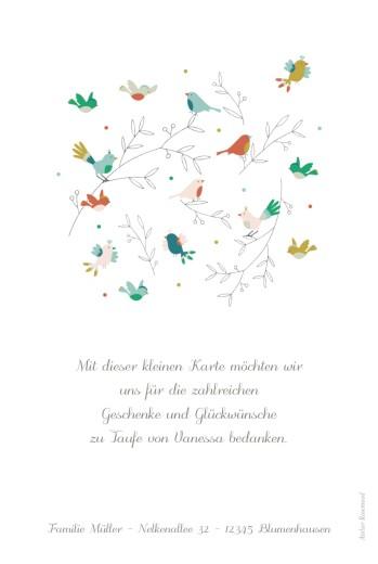 Dankeskarten Bunte vögel foto rosa - Seite 2