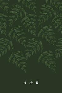 Hochzeitseinladungen grau blättertanz grün