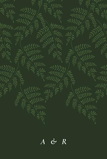 Hochzeitseinladungen Blättertanz grün