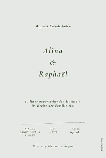 Hochzeitseinladungen Blättertanz grün - Seite 2