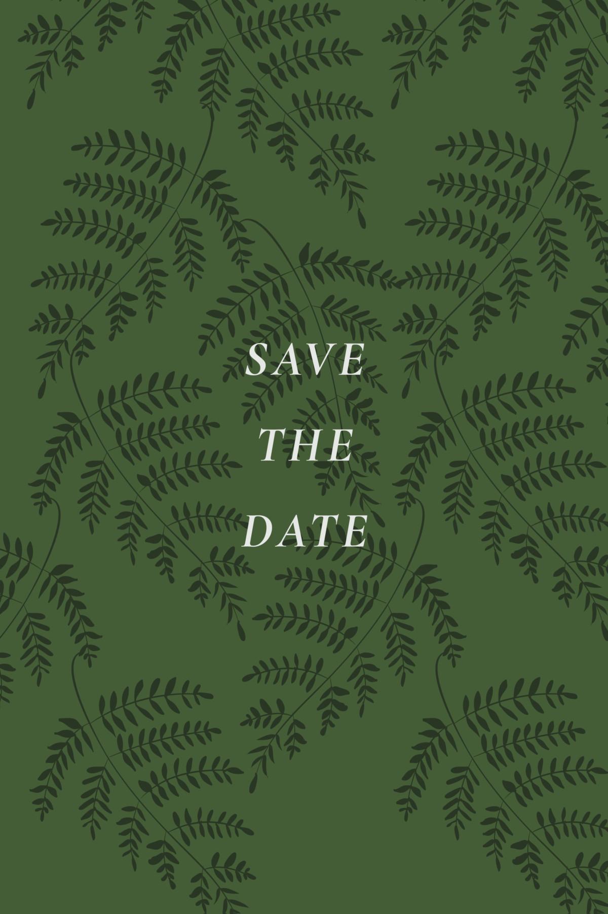 Save the date karten blättertanz atelier rosemood