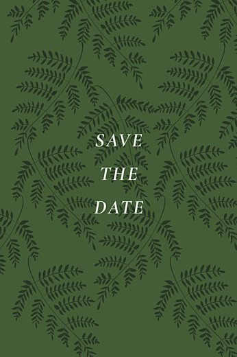 Save-the-Date Karten Blättertanz grün