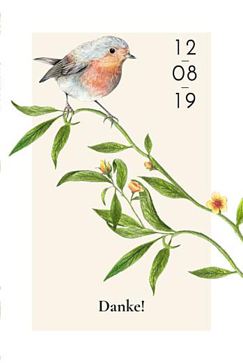 Dankeskarten Hochzeit Naturalis (klappkarte)  weiß