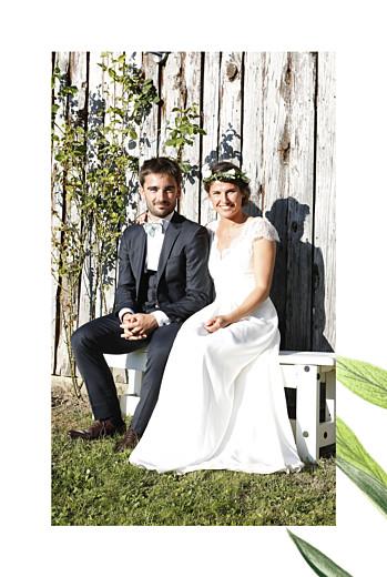 Dankeskarten Hochzeit Naturalis (klappkarte)  weiß - Seite 2