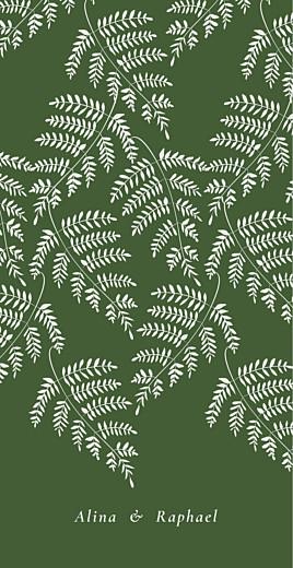 Menükarte Blättertanz grün