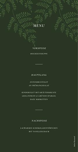Menükarte Blättertanz grün - Seite 2