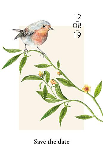 Save-the-Date Karten Naturalis weiß