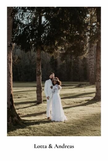 Dankeskarten Hochzeit Naturalis weiß