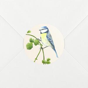 Aufkleber Hochzeit Naturalis blaumeise