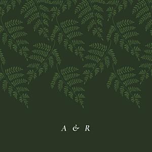Hochzeitseinladungen cocorrina  blättertanz (klappkarte) grün
