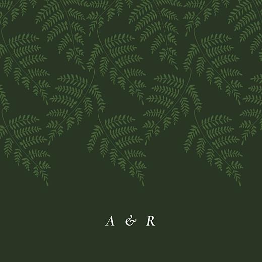 Hochzeitseinladungen Blättertanz (klappkarte) grün