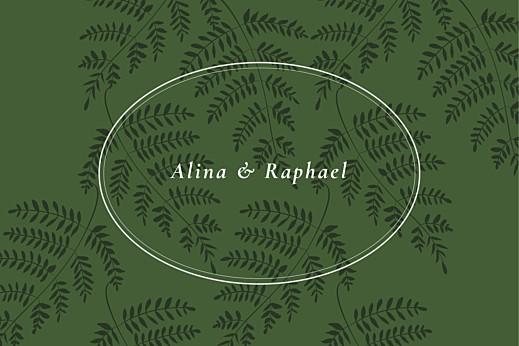 Antwortkarte Hochzeit Blättertanz grün