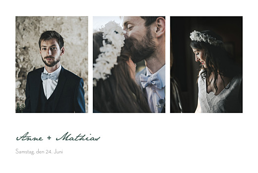 Dankeskarten Hochzeit Eucalyptus weiß