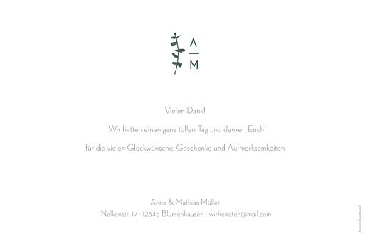 Dankeskarten Hochzeit Eucalyptus weiß - Seite 2