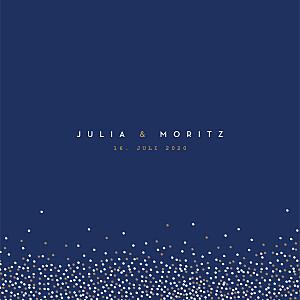 Hochzeitseinladungen tomoë  confetti blau