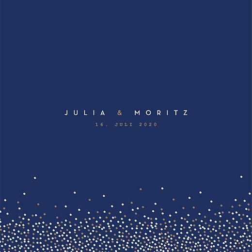 Hochzeitseinladungen Confetti blau