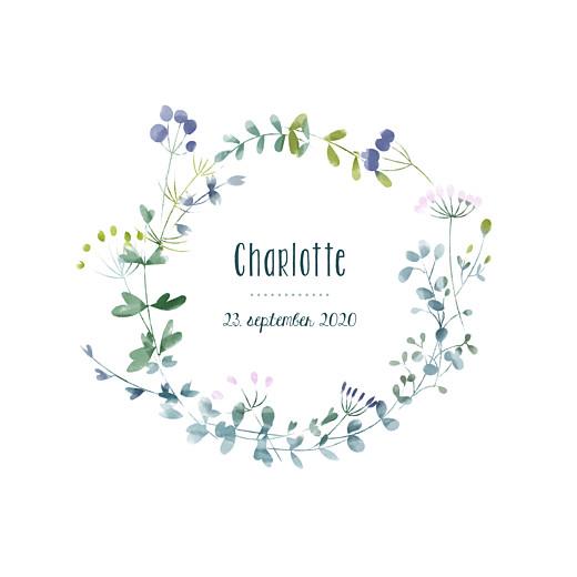 Geburtskarten Wildblumen beidseitig violett