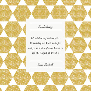 Geburtstagseinladungen leinwand beidseitig gelb