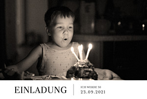Geburtstagseinladungen stilvoll lang weiß
