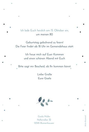 Geburtstagseinladungen Sommernacht (gold) blau - Seite 2