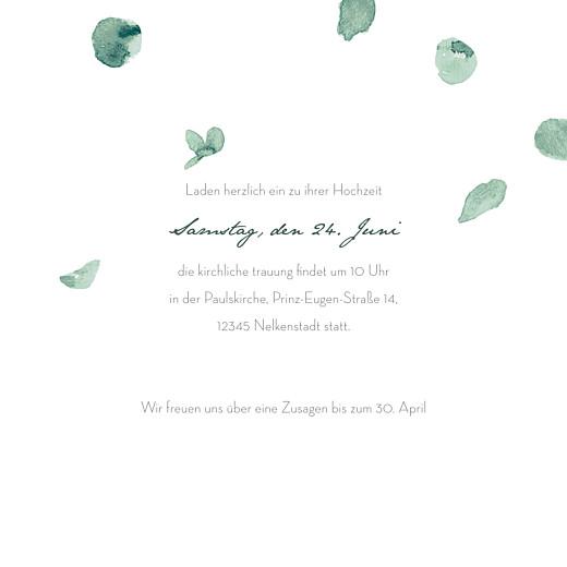 Hochzeitseinladungen Eucalyptus klappkarte  weiß - Seite 3