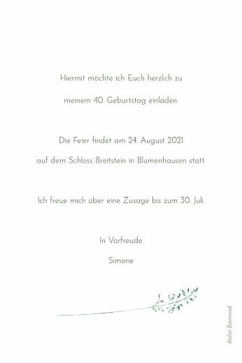 Geburtstagseinladungen Sommerwiese grün - Seite 2