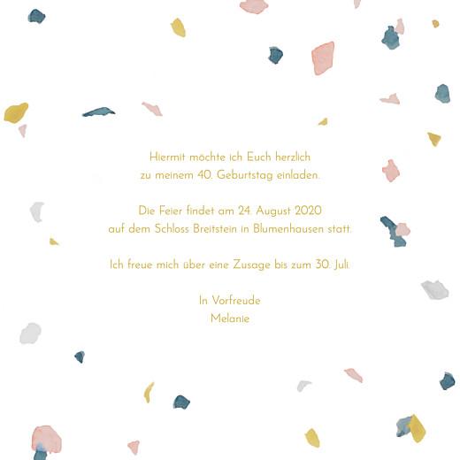 Geburtstagseinladungen Flocken klappkarte rosa & ocker - Seite 3