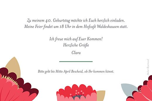 Geburtstagseinladungen Seerosen grün - Seite 2
