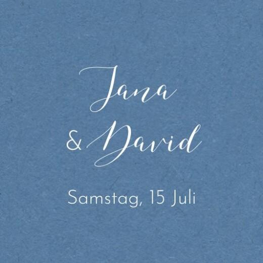 Anhänger Hochzeit Zweige aquarell blau