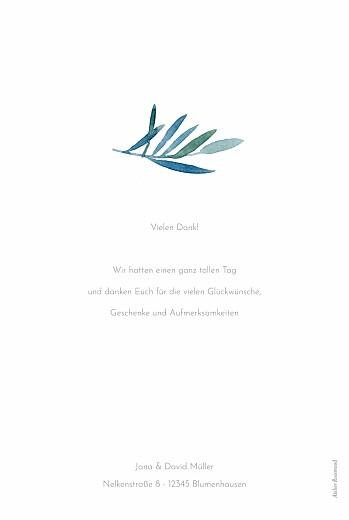 Dankeskarten Hochzeit Zweige aquarell weiß - Seite 2