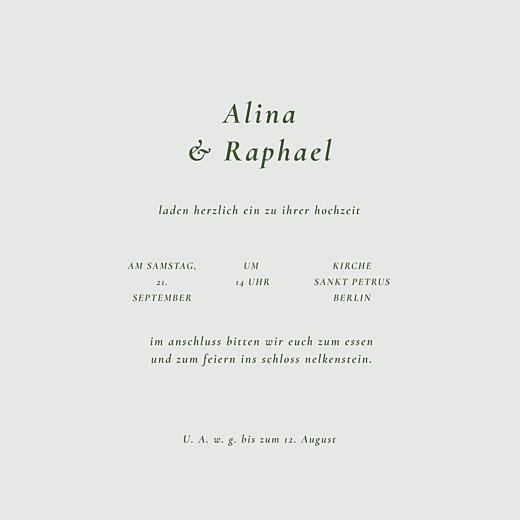 Hochzeitseinladungen Blättertanz (klappkarte) grün - Seite 3