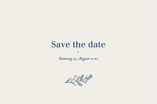 Save-the-Date Karten Naturnah blau