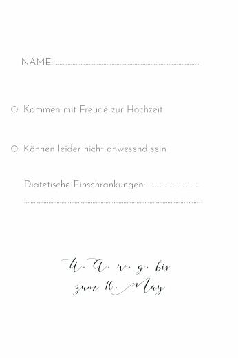 Antwortkarte Hochzeit Zweige aquarell blau - Seite 2