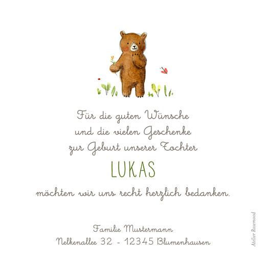 Dankeskarten Danke bären weiß - Seite 2