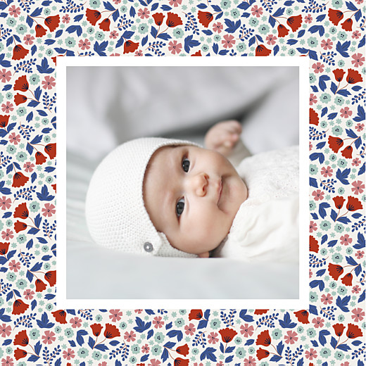 Geburtskarten Blumenbett frühling