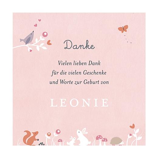 Dankeskarten Märchenwald rosa