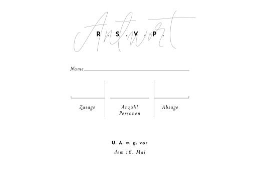 Antwortkarte Hochzeit Filigran beige - Seite 2