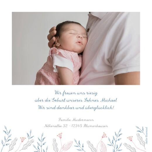 Geburtskarten Freudenflug blau - Seite 2
