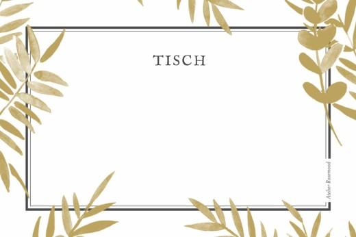 Tischkarten Hochzeit Blättertraum gelb