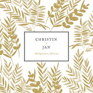 Hochzeitseinladungen blättertraum gold