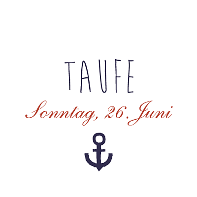 Aufkleber Taufe Seemann marineblau & rot finition