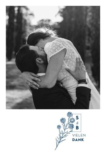 Dankeskarten Hochzeit Laure de sagazan weiß