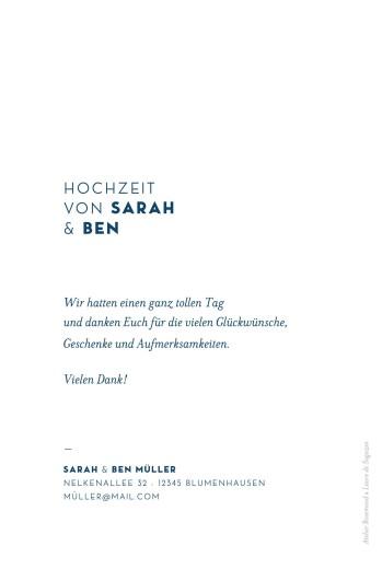 Dankeskarten Hochzeit Laure de sagazan weiß - Seite 2